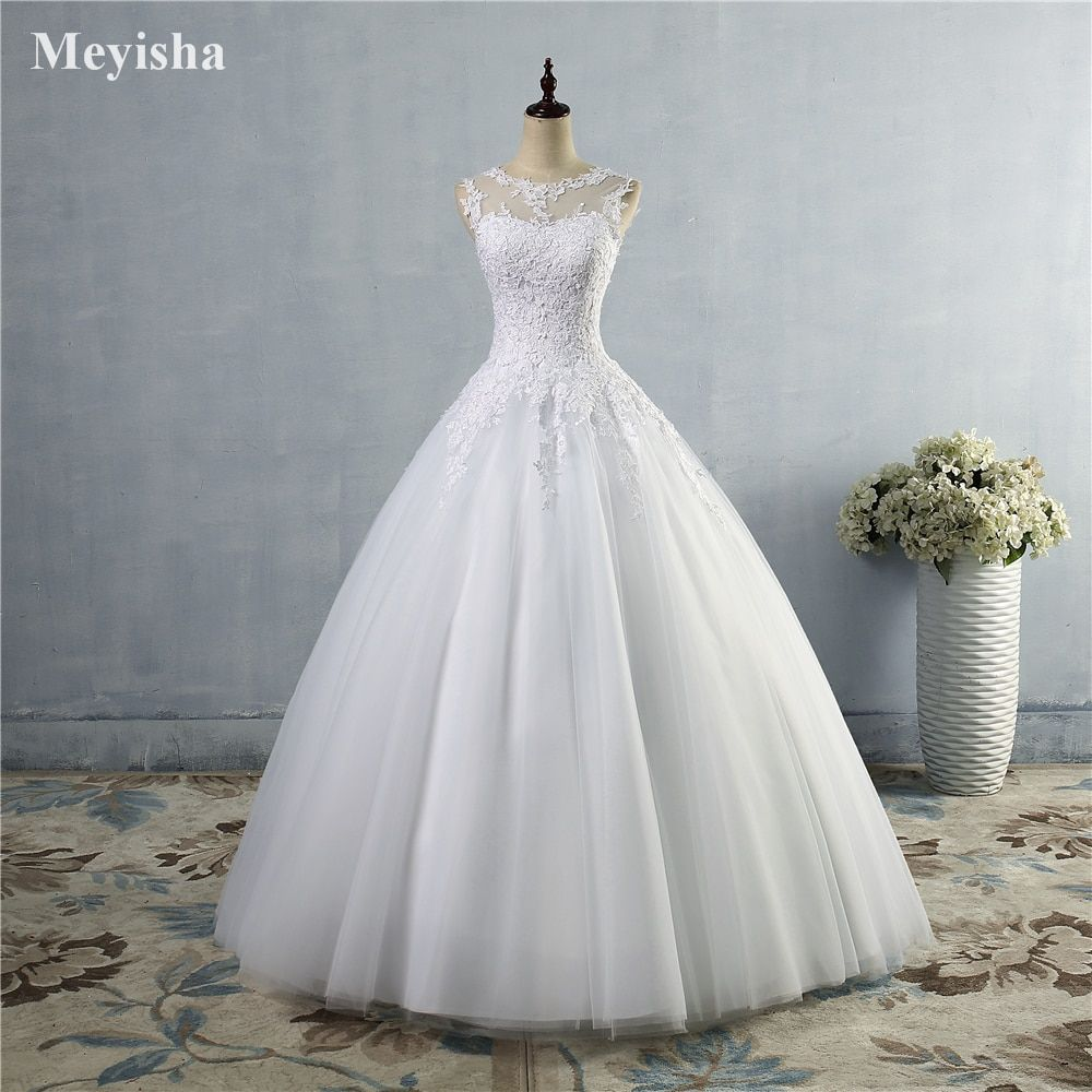 ZJ9036 2016 lace White Ivory Gown Lace up back Croset Wedding Dresses for bride plus size maxi Customer made size 2-26W