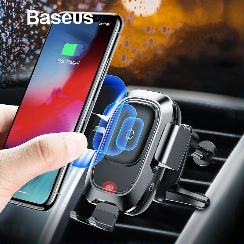 Baseus Smart Infrarot Sensor Auto Halter Drahtlose Ladegerät Für iPhone Xs Max XR Samsung Note9 Telefon Halter Drahtlose Ladegerät in auto
