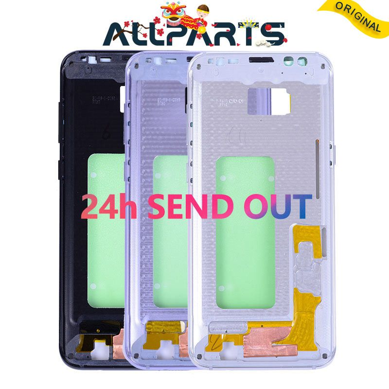 New Middle Frame Housing For SAMSUNG GALAXY S8 S8 Plus G950 G955 Rear Chassis Bezzel with Side Buttons Cooling Systerm