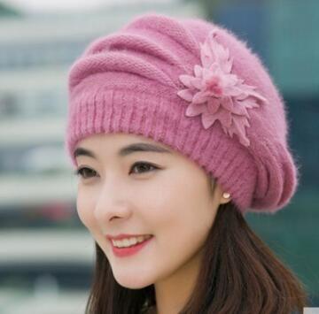 2018 fransTui, el otoño invierno de Las Señoras gorro de lana de tejer sombrero engrosada en otoño e invierno sombrero de piel