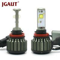 JGAUT H4 светодио дный автомобиль свет H1 H3 H7 H11 880 9005 9006 80 Вт 9000LM Canbus TURBO 6000 К XHP50 туман фары лампочки комплект автомобилей лампы