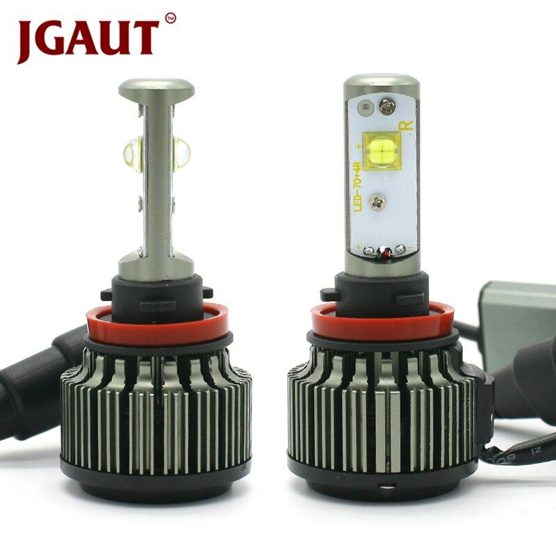 JGAUT H4 LED Car Light H1 H3 H7 H11 880 9005 9006 80W 9000LM Canbus TURBO 6000K XHP50 Fog Headlight Bulbs Kit Automobiles Lamps