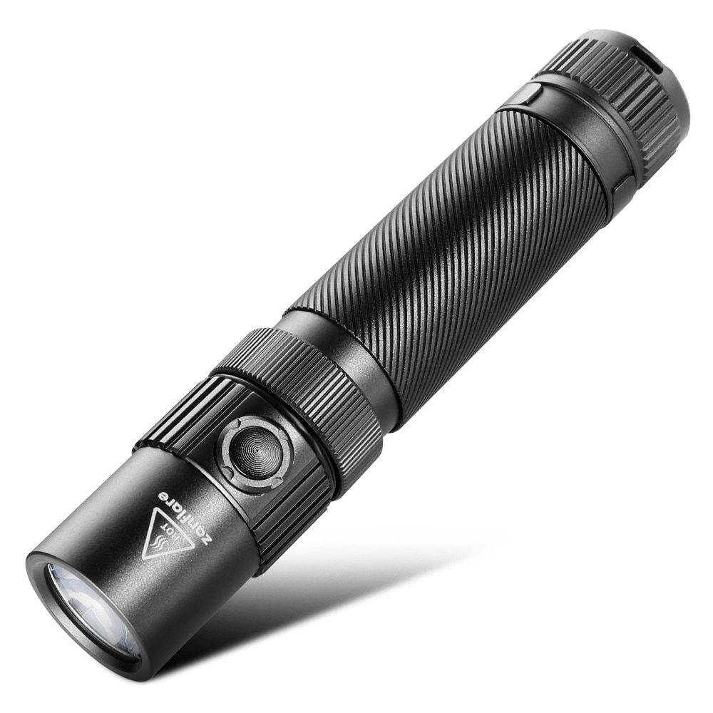 Zanflare F1 Aluminum Waterproof Zoomable CREE LED Flashlight Torch Light 1240Lm LED Portable Spotlight with Rechargeable Battery