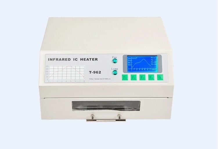 PUHUI T-962 T962 Reflow Oven Infrared IC Heater Soldering Machine 800W 180 x 235 mm T962 for BGA SMD SMT Rework C0167