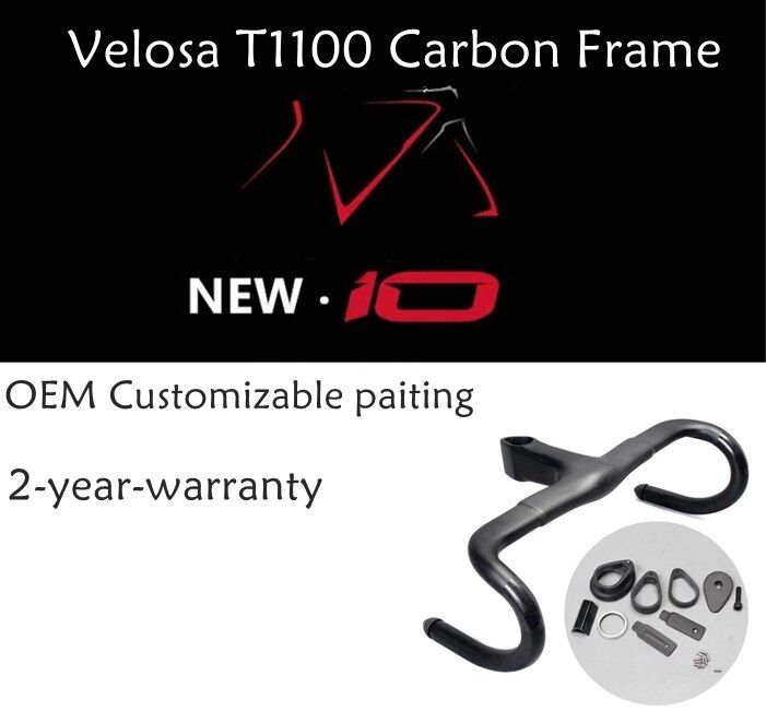 2018 Velosa super light full carbon road bike F10 frame , Frame+Fork+Seatpost+Headlebar , 700C carbon Gravel disc brake frameset