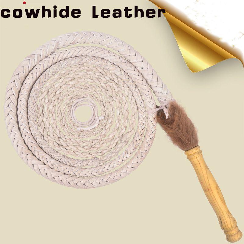 Bull Whip Real Leather black and white  BULLWHIP Plait BULL WHIP 1.5 2 3 4 5 m
