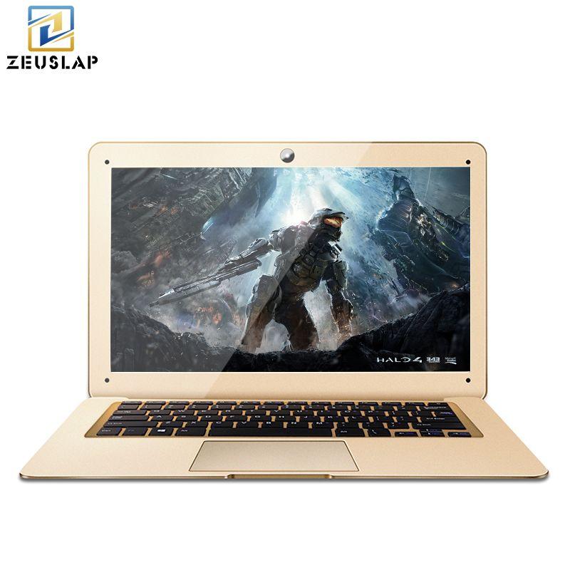 Zeuslap-a8 ультратонких 4 ГБ оперативной памяти + 500 ГБ HDD Оконные рамы 10 Системы 4 ядра быстрая загрузка ноутбука Тетрадь Нетбуки компьютер