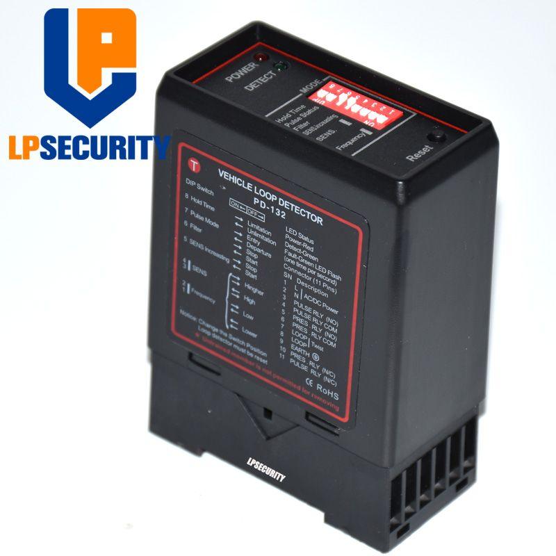 LPSECURITY auto parkplatz system Einzigen kanal Schleife Detektor PD132 mit einem besten preis/detektor de lazo inductivo 12VDC 24VDC 230VAC
