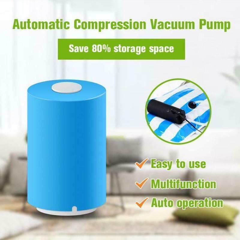 High Quality Blue Mini Automatic Compression Vacuum Pump Sealer Clamp Snack Fresh Food Rod Strip With Bag Vacuum Machine