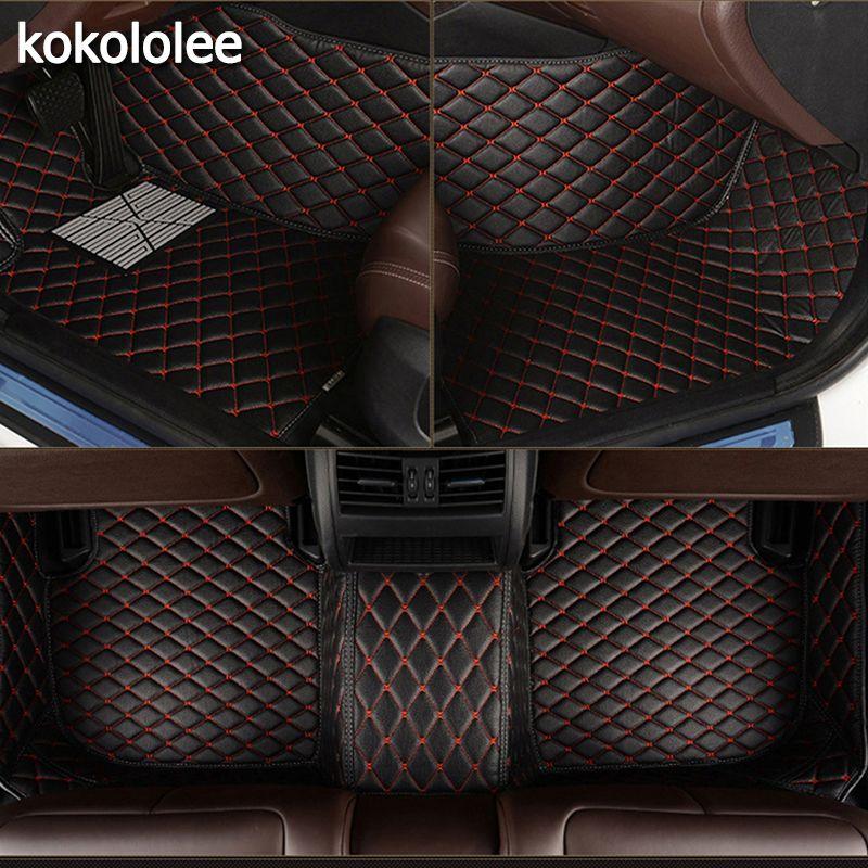 kokololee Custom car floor mats for Ford All Models F-150 focus Explorer Mustang kuga ecosportcar mondeo fiesta auto accessories