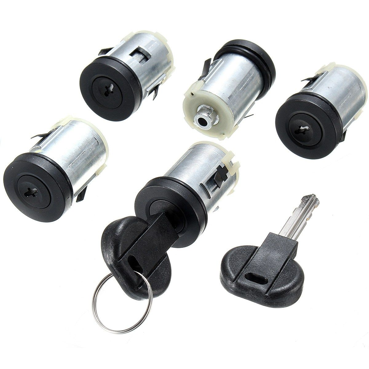 5 X Barrel Car Door Lock Set With 2 Keys For Peugeot Expert 806 For Citroen Synergie Dispatch