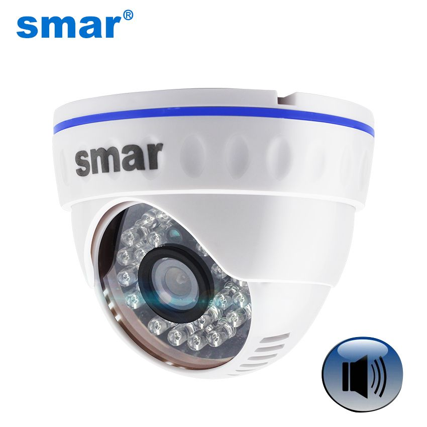 <font><b>Onvif</b></font> HD 720P 960P 1080P IP Camera Support Audio With External Microphone Pickup Day Night Dome Camera 3.6mm lens ABS Plastic