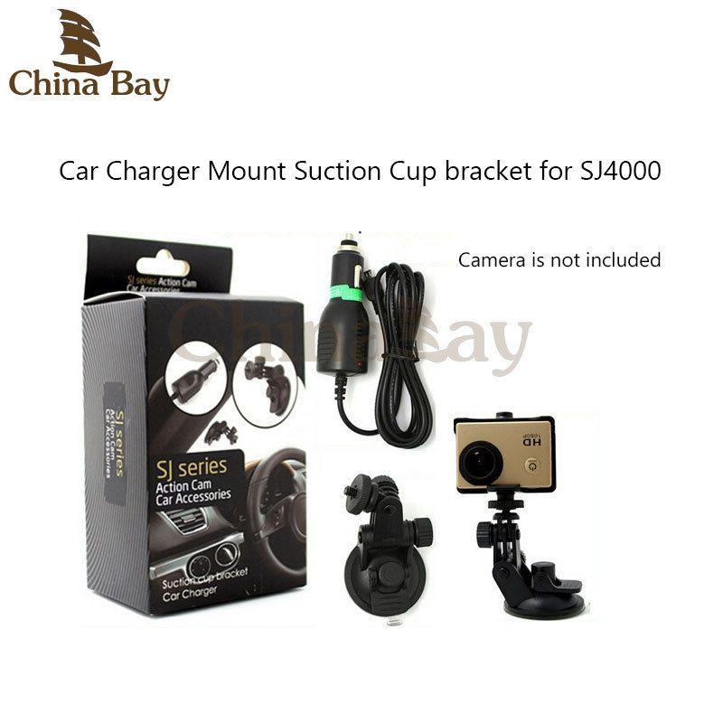 Ventouse support avec Sport Caméra Chargeur De Voiture Pour la série SJ Action Cam Caemera SÉ1000, SJ2000/3000, SJ4000 Mont Accessoires