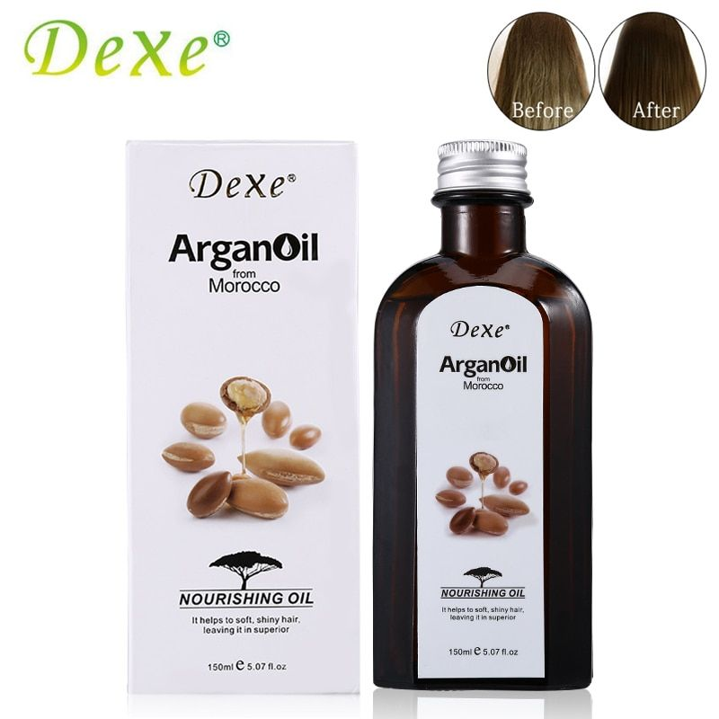 150ml Dexe Pure Natural Morocco Argan Oil Hair Care For Dry And Maintenance Hair Nutrition Essential Oil For Hair Straightening