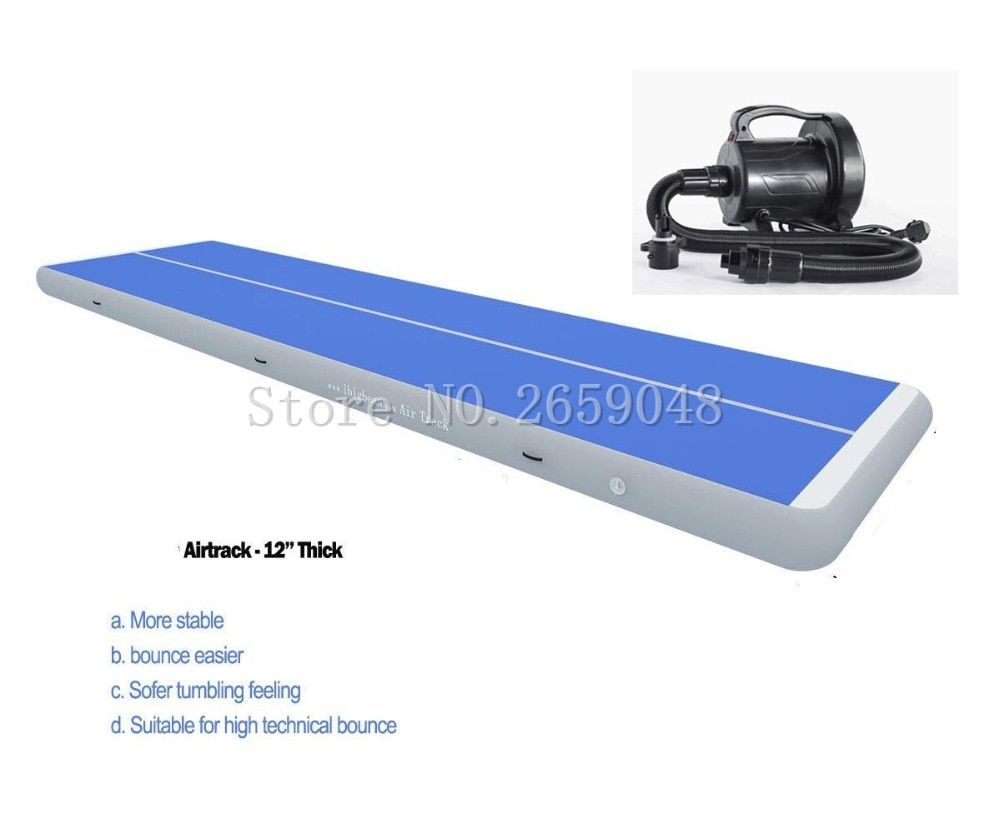 Free Shipping 7 x 1 x 0.2m Air Tumbling Track Gymnastics Mats Air Floor Mat Inflatable Tumble Track Inflatable AirTrack