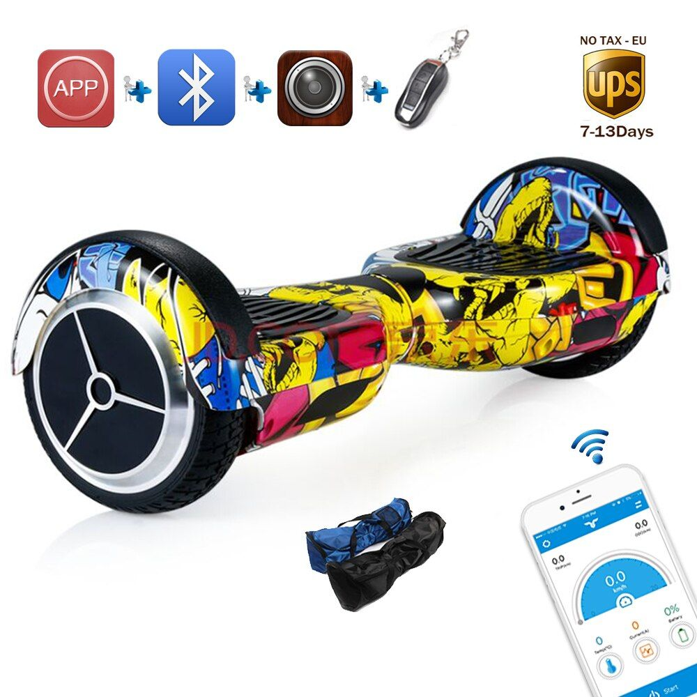 APP 6.5 inch Hoverboard standing drift giroskuter Hover board smart overboard 2 wheels self balance hoverboard DE stock UL 2272