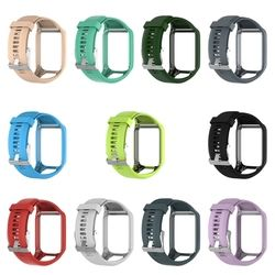 OOTDTY Silicone Remplacement Wrist Band Sangle Pour TomTom Runner 2 3 Spark 3 GPS Montre