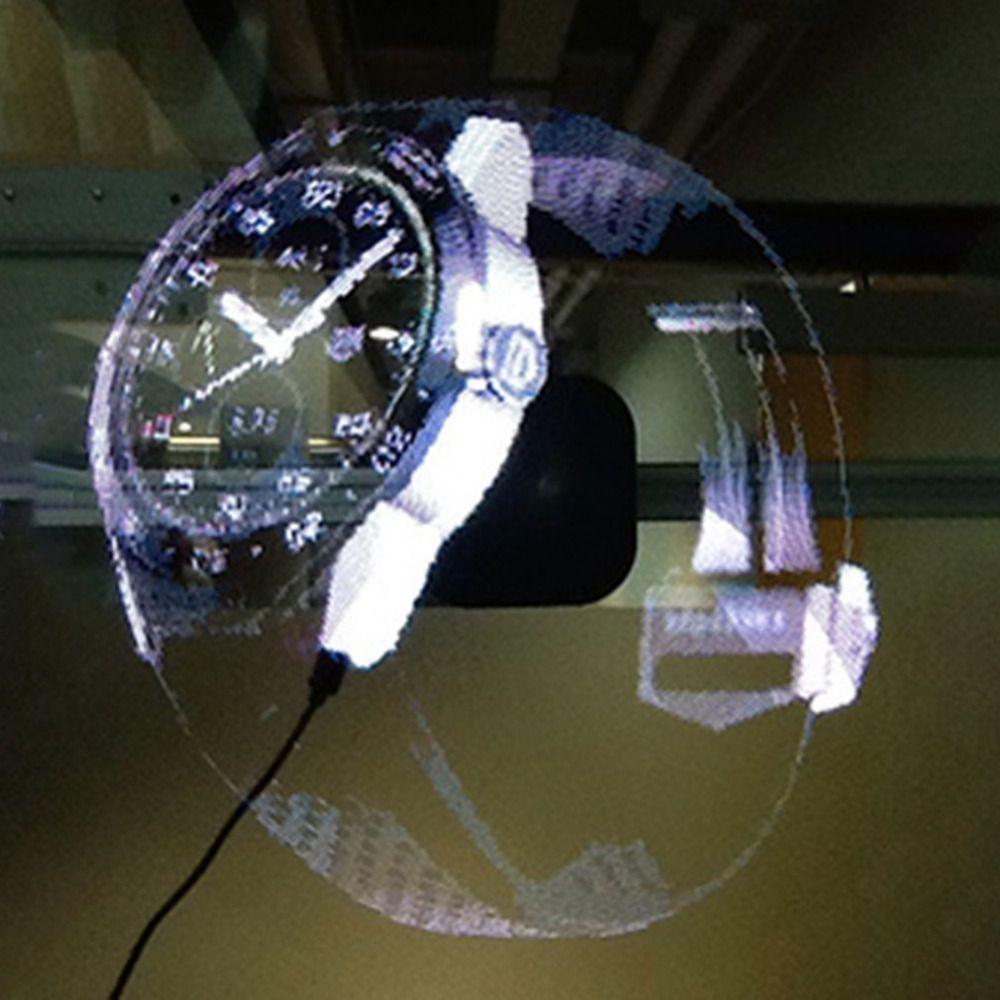 ICOCO Neue LED Holographischen Projektor Tragbare Hologramm Player 3D Holographische Dispaly Fan Einzigartige Hologram Projector Neue Jahr