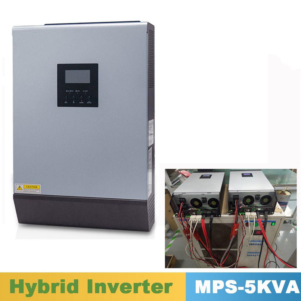5000VA 4000 W Reine Sinus Welle Hybrid Inverter Parallel Kit Innen 48VDC Eingang 220VAC Ausgang mit MPPT Solar Ladegerät Controller 60A