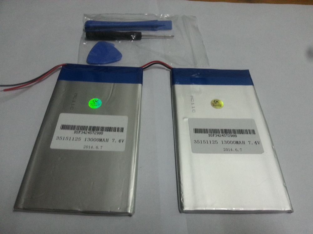 7.4 V 13000 mAh Tablettes Batteries DIY U30GT, U30GT1, U30GT2 double quatre-core tablet pc batterie 33161125 Taille: 3.5*151*125mm