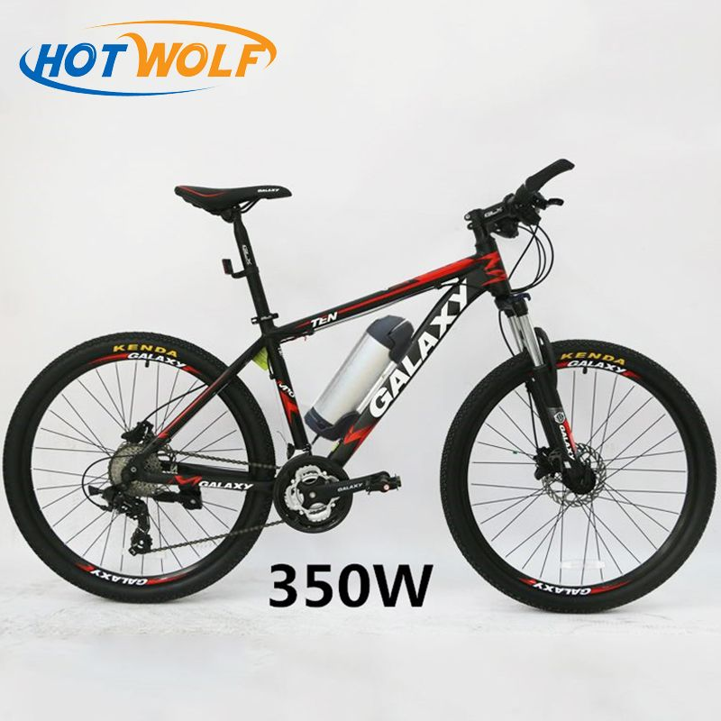 Oil brake 26 inch mountain bike battery car modified lithium battery electric bicycle disc brake moped disc brake 24 speed