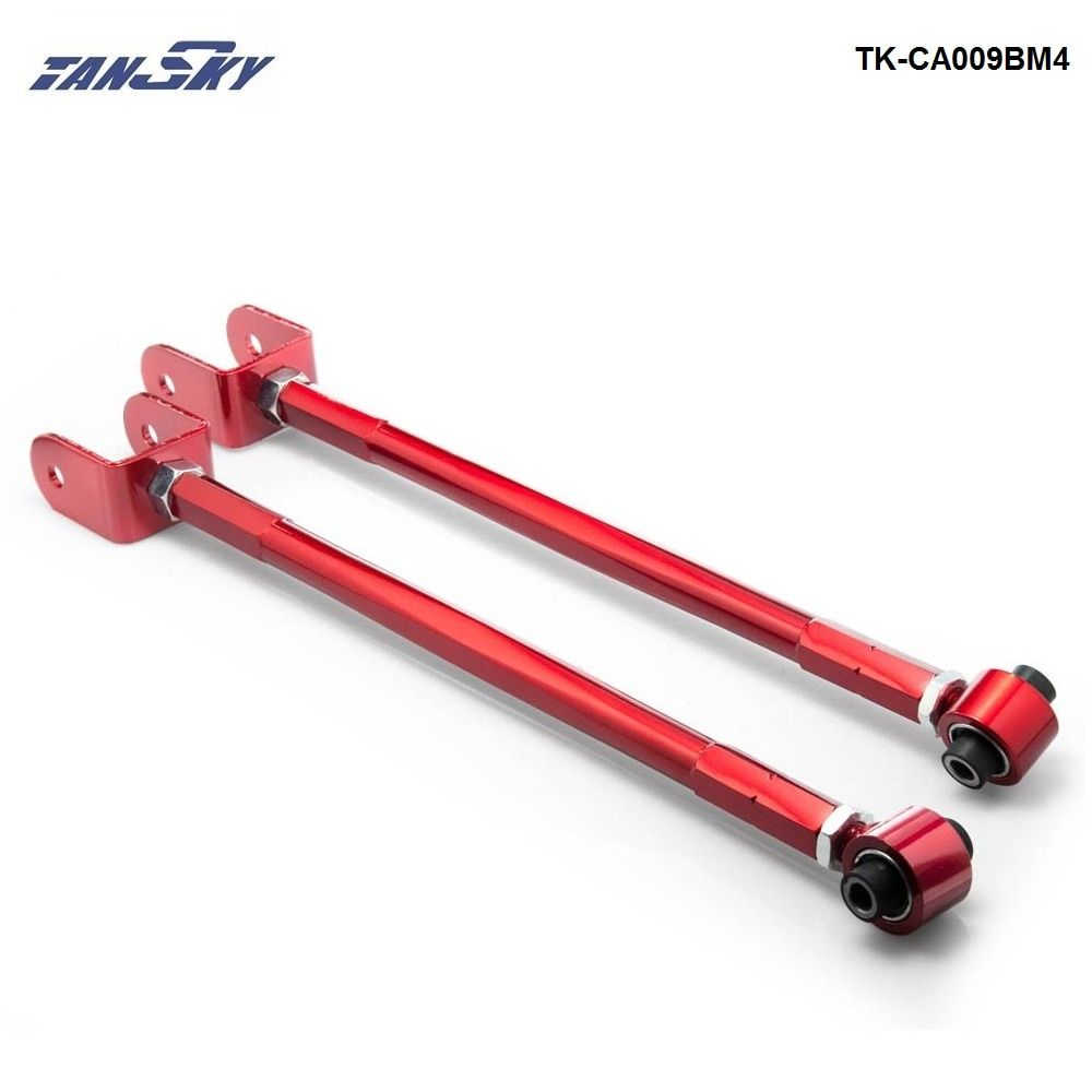 For BMW 3-Series BMW E36, E46, M3, Z3, Z4 Red Adjustable Suspension Camber Rear Lower Control Toe Arm/Rod/Bar TK-CA009BM