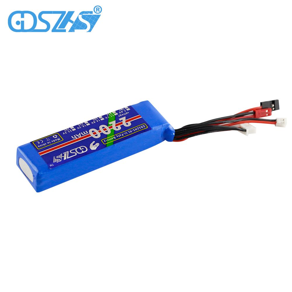 2200mAh 11.1V Battery for Hubsan X4 PRO <font><b>transmitter</b></font> / H109S / H501S/ H301S remote controlle Modified model remote controller