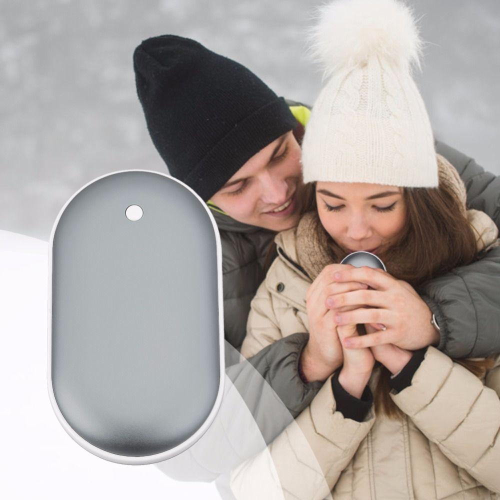 Tasche Heizung Hand Wärmer Tragbare Mobile Power Versorgung Macarons Doppel Heizung Aluminium Legierung Handy Lade Schatz