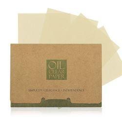 100 feuilles/pack De Papiers Tissu Vert Thé Odeur Maquillage Nettoyage Absorbant L'huile Visage Papier Absorber Buvard Facial Nettoyant Visage