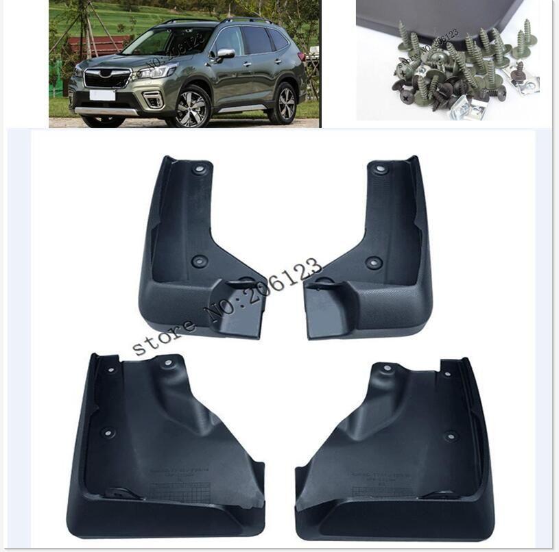 Set Geformt Schlamm Flaps Für Subaru Forester SK 2019-auf Schmutzfänger Splash Guards Klappe Kotflügel kotflügel Vorne Hinten 2018 2020
