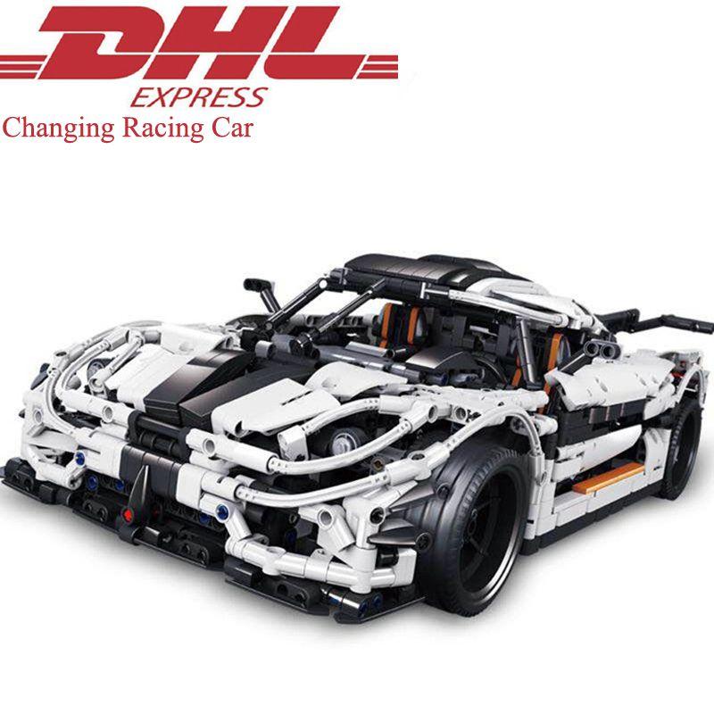 2017 Nuevo 3236 unids técnica figuras MOC cambio racing car Kits de construcción Blocs ladrillos Navidad juguete compatible para los niños