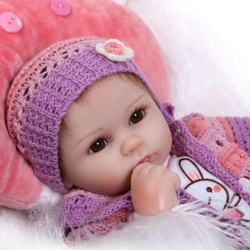 16 Soft silicone reborn baby doll toys lifelike 40cm vinyl reborn babies play house bedtime toy birthday gift for girl
