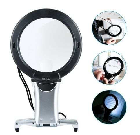 Hands Free LED loupe Lighted Reading Magnifier Neck Wear Quality Magnifying Glass For Seniors Sewing Cross Stitch Embroidery