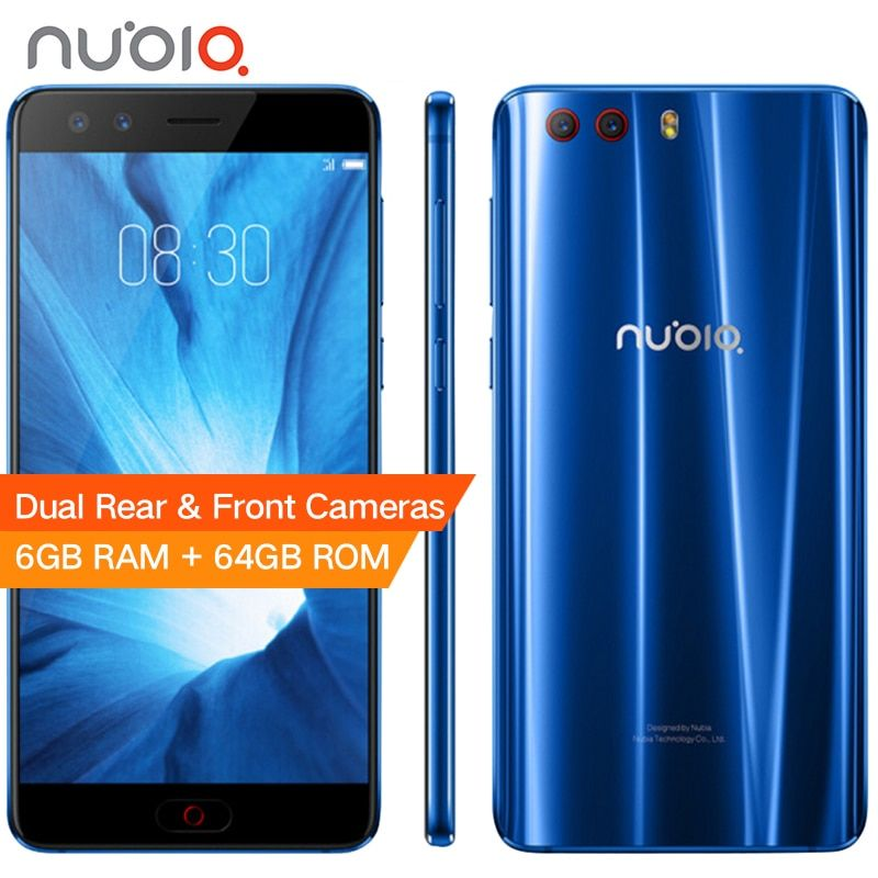 Original Nubia Z17 Mini S 6GB 64GB Mobile Phone 5.2 MSM8976 Pro Octa Core Android 7.1 Dual Front Rear Cameras Fingerprint