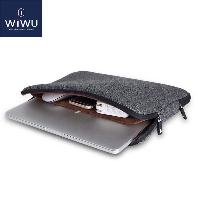 WIWU Top Selling Waterproof Laptop Bag 11 12 13 14 15 15.6 Women Men Notebook Bag Case 14 Laptop Sleeve for <font><b>MacBook</b></font> Air 13 Case