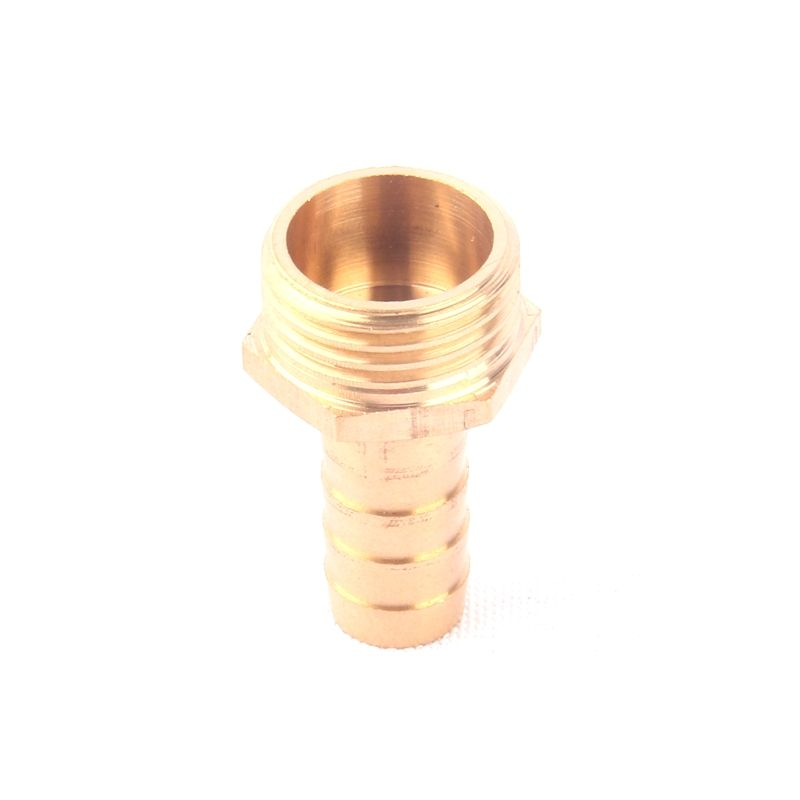 3pcs Green Thumb 1/2 Inch to 12mm Brass Quick Connector Male Thread Copper Straight Coupling