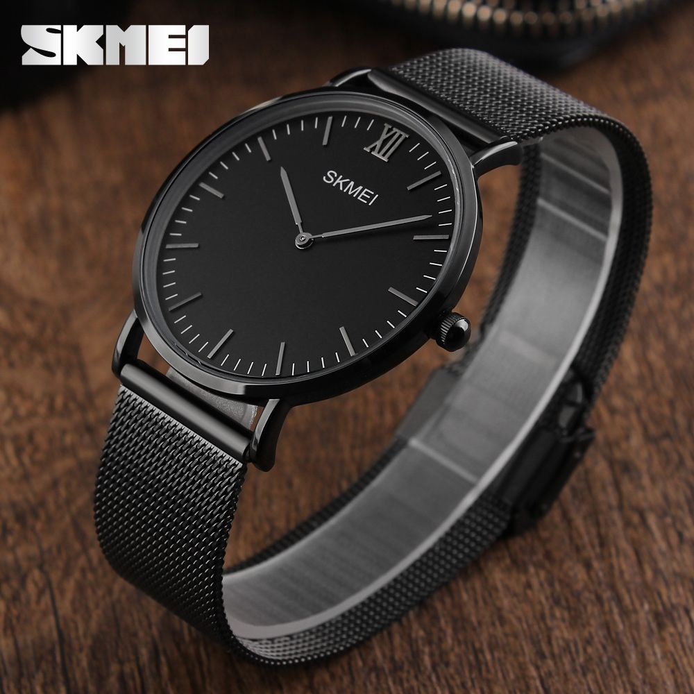 Ultra Thin Watches Men Quartz Stainless Steel Men's Watches SKMEI Brand Clock Man Waterproof Fashion Casual Wristwatches