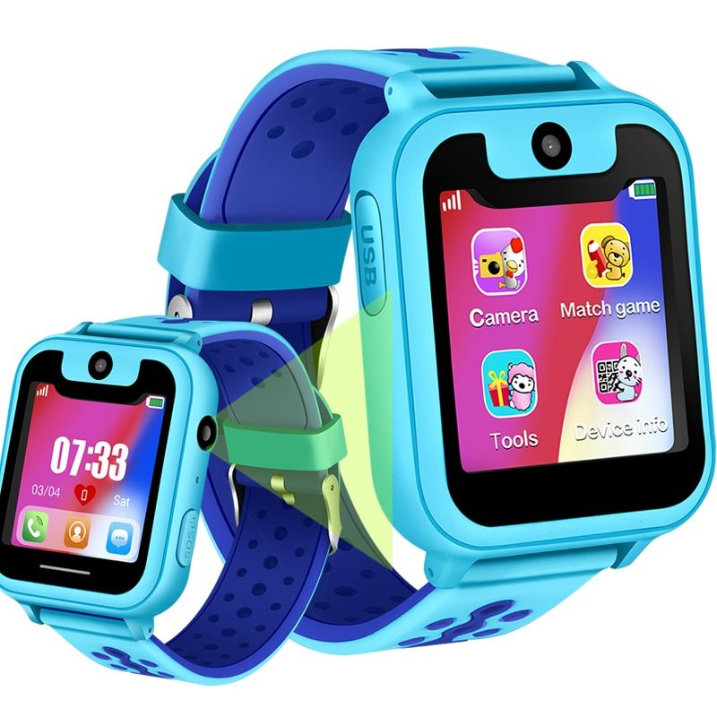 2018 New Waterproof Children Smart Watch Omnidirectional Positioning Tracker SOS Emergency Call Digital Watch Support SIM Card