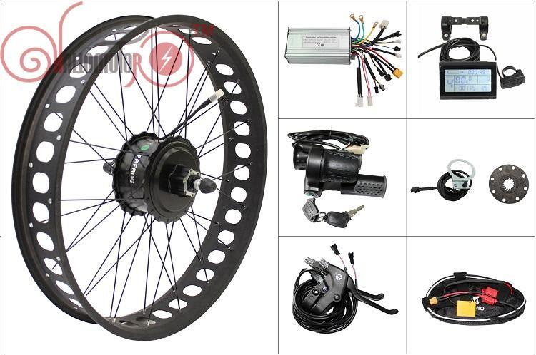 Free Shipping 48V 750W 8Fun Bafang Motor Bike Freehub Cassette Fat Tire Rear Wheel Electric Bicycle Conversion Kit 190mm Ebike
