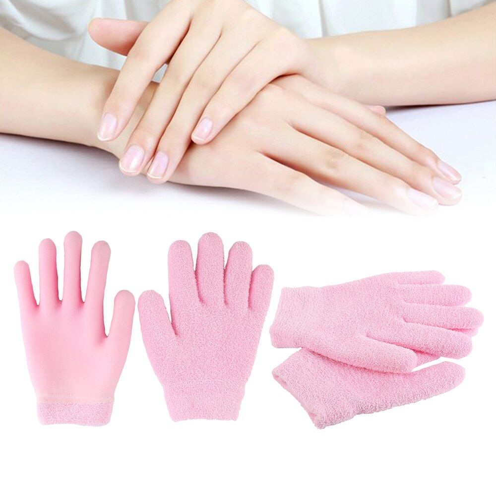 1Pair Gloves jacuzzis spa Gel Moisturizing Gloves Reusable Whitening Beauty Hand Nail Care Accessories Travel Kits 3 Colors