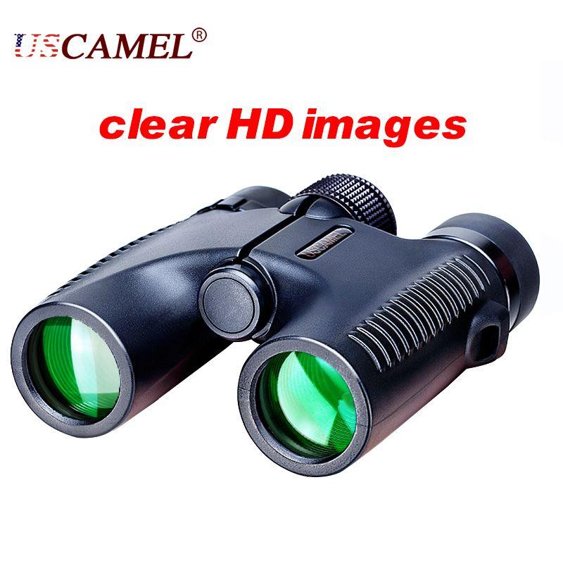 USCAMEL HD 10x26 Binoculars Powerful Zoom Long Range 5000m <font><b>Professional</b></font> Waterproof Folding Telescope Wide Angle Vision Hunting