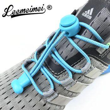 Stretching Verrouillage dentelle 22 couleurs une paire De Verrouillage Chaussures Lacets Élastiques Baskets Lacets Shoestrings de Course/Jogging/Triathlon