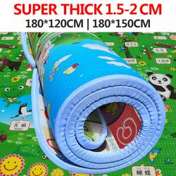 Mainan Bayi Merangkak Puzzle Tebal Bermain Tikar 78*70 Inch 200*180*3 Cm Dua Sisi Bayi mendaki Pad Tebal Bermain Juguetes BEBE Karpet