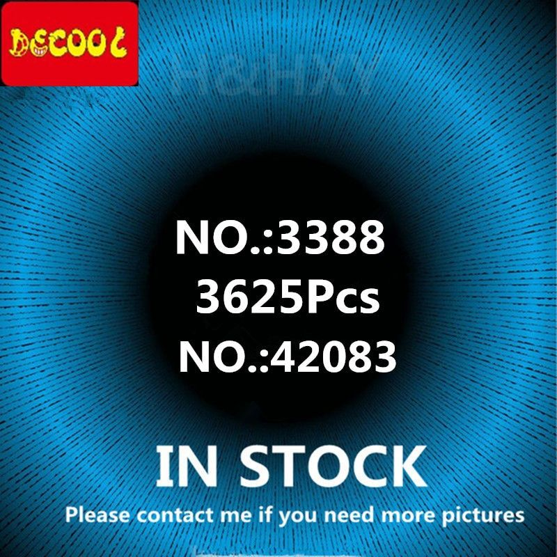 IN STOCK DHL DECOOL 3388 3625Pcs 3368 2726Pcs Three colors Racing Car Technic Model Building Blocks Bricks Toy Boys gift