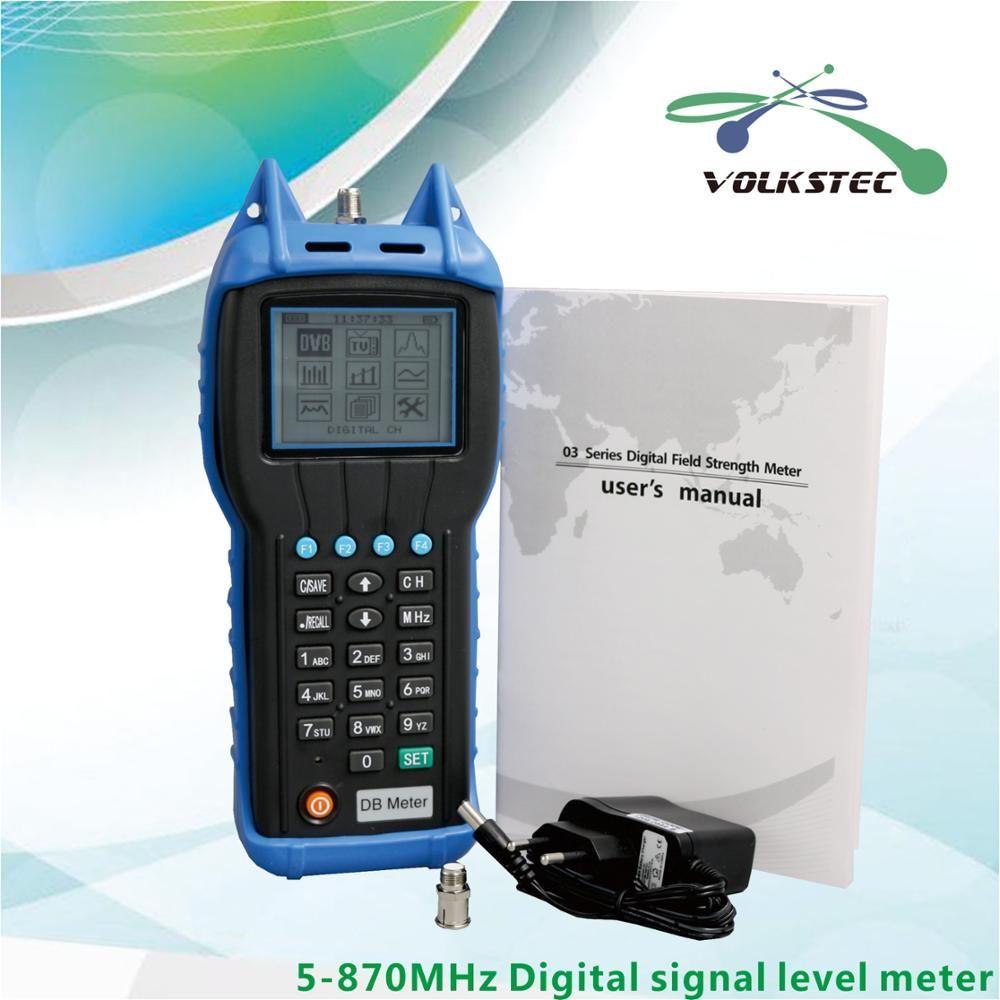 High Precision digital CATV signal level meter DB200P 5MHz-870MHz