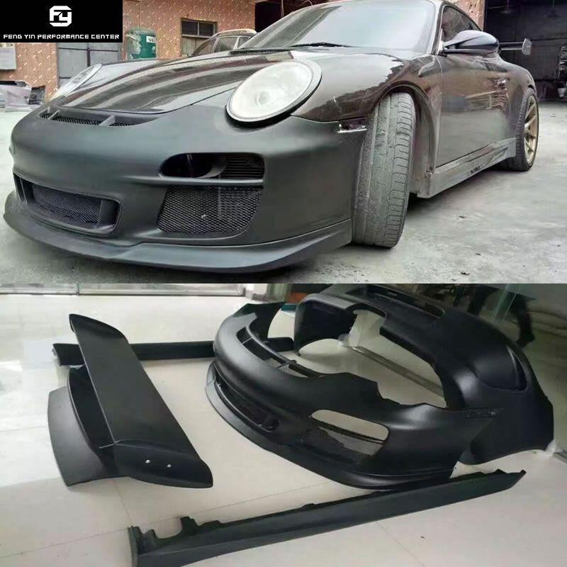 911 997,2 GT3 Stil stoßstange vorne stoßstange hinten seite röcke heckspoiler für Porsche 911 Carrera 997,2 GT3 stil Auto körper kit 08-12