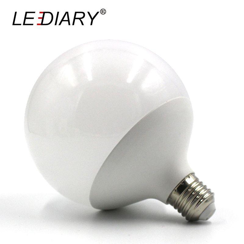 LEDIARY Hot Design G120 E27 LED Bulb Real 20w Power D120mm*H155mm Global Light 220V-240V Ball Light for Chandelier Pendant Lamp
