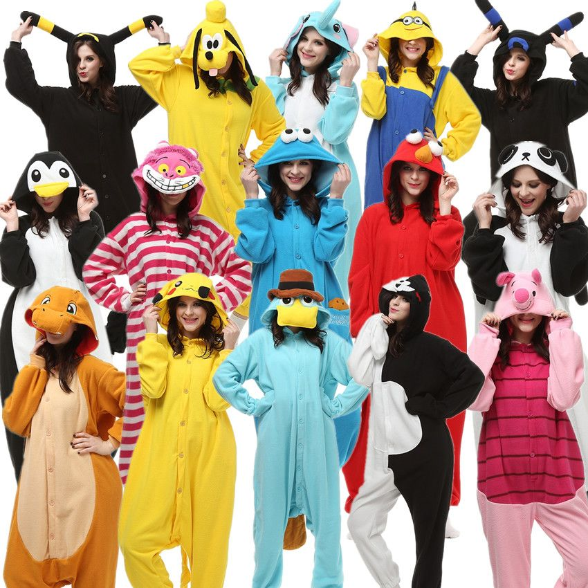 Adultes Kigurumi Halloween carnaval Costumes Onesies Kigu Pokemon Charmander Umbreon Cheshire Cookie monstre Elmo Monokuma Minion