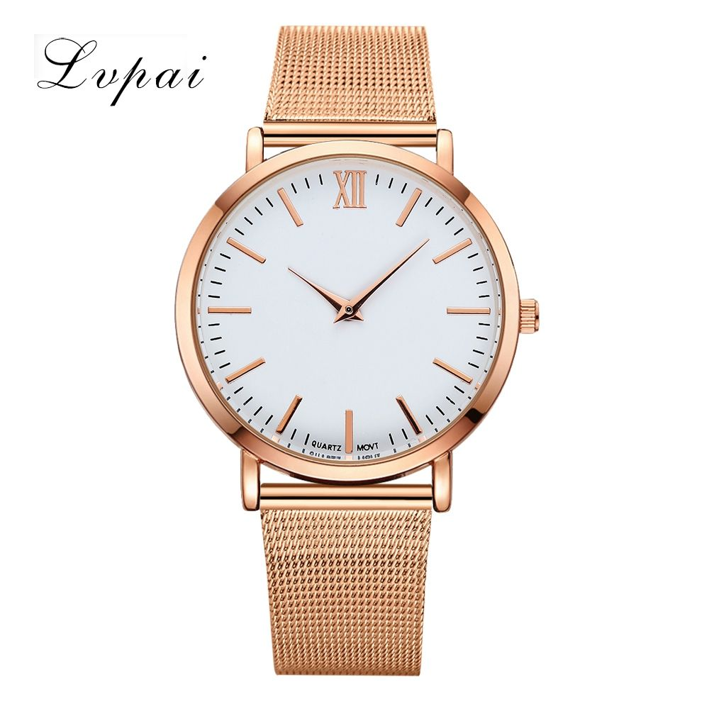 Lvpai Brand 2018 Luxury Women Gold Watch Fashion Bracelet Dress Watch Quartz Wristwatch Ladies Casual Sport Business Watch