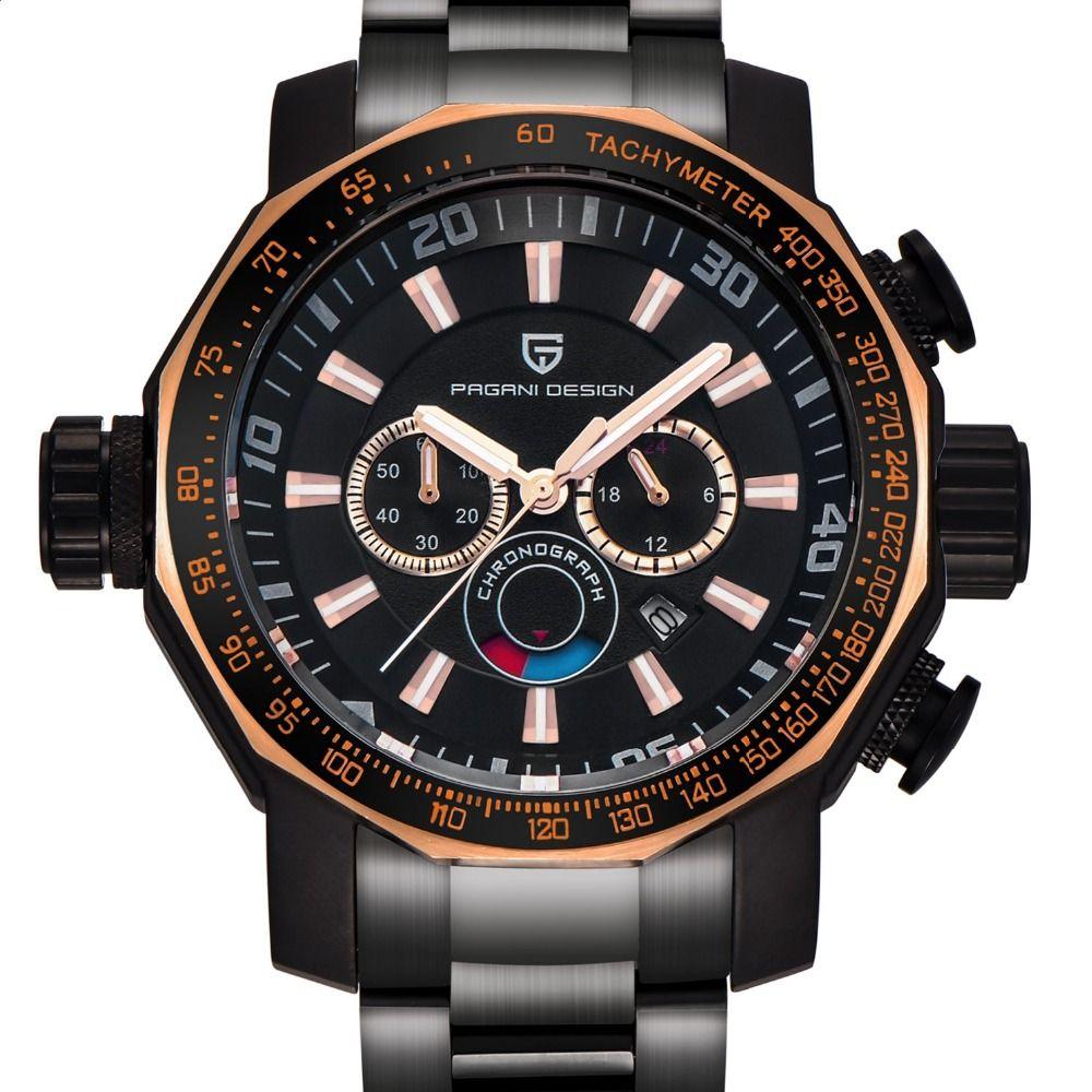 Watches Men Luxury Brand PAGANI DESIGN Sport Watch Dive Military Watches All Steel Multifunction Quartz Wristwatch reloj hombre